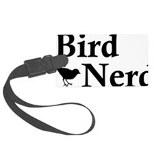 Brid Nerd Black Luggage Tag