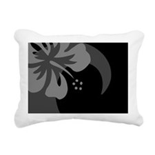 Hibiscus Black Car Magne Rectangular Canvas Pillow