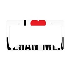 ILoveVeganMen_2Lines License Plate Holder