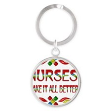 Nurse Appreciation Round Keychain