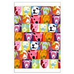 Pop Art Pit Bulls Large Poster
