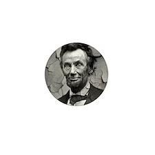 Worn, Abe Lincoln, Mini Button