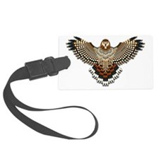 Beadwork Red-Tailed Hawk Luggage Tag