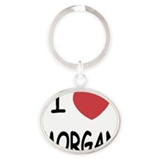 I heart Morgan Oval Keychain