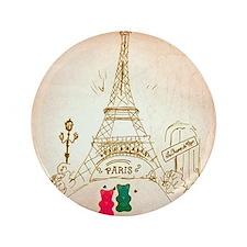 """Gummy Bears in Paris 3.5"""" Button"""