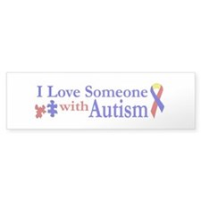 I Love Someone with Autism Bumper Bumper Sticker