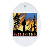 Wildfire Oval Ornament