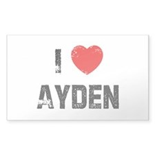 I * Ayden Rectangle Decal