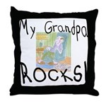 Grandpa Rocks 2 Throw Pillow