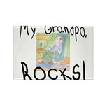 Grandpa Rocks 2 Rectangle Magnet