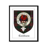 Cockburn Clan Crest Tartan Framed Panel Print