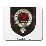 Cockburn Clan Crest Tartan Mousepad