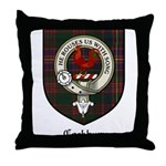 Cockburn Clan Crest Tartan Throw Pillow