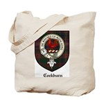 Cockburn Clan Crest Tartan Tote Bag