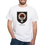 Cockburn Clan Crest Tartan White T-Shirt