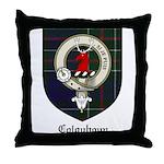 Colquhoun Clan Crest Tartan Throw Pillow