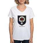 Colquhoun Clan Crest Tartan Women's V-Neck T-Shirt