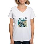 Rock Doves Women's V-Neck T-Shirt