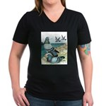 Rock Doves Women's V-Neck Dark T-Shirt