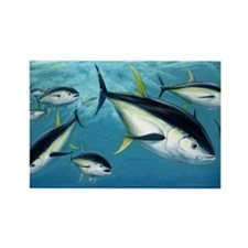 yellowfin tuna fade Rectangle Magnet
