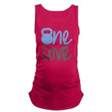 Blue One Love Kettlebell Maternity Tank Top