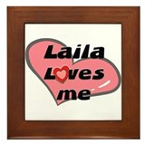 laila loves me  Framed Tile