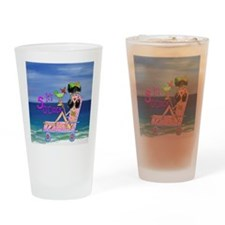 Beach Girl Drinking Glass