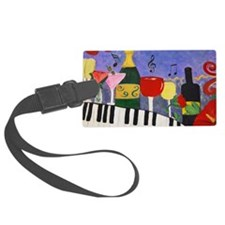 Piano Bar Luggage Tag