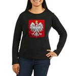 Polish Coat of Arms Women's Long Sleeve Dark T-Shi