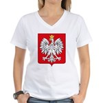 Polish Coat of Arms Women's V-Neck T-Shirt
