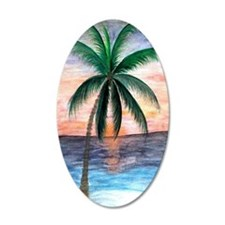 Sunset Palm Wall Decal