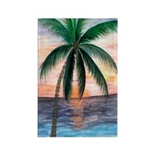 Sunset Palm Rectangle Magnet