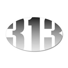313 Detroit Wall Decal