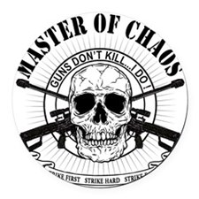 MAster of Chaos Round Car Magnet