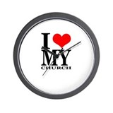 """I Love My Church"" Wall Clock"