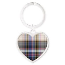 Plaid Heart Keychain