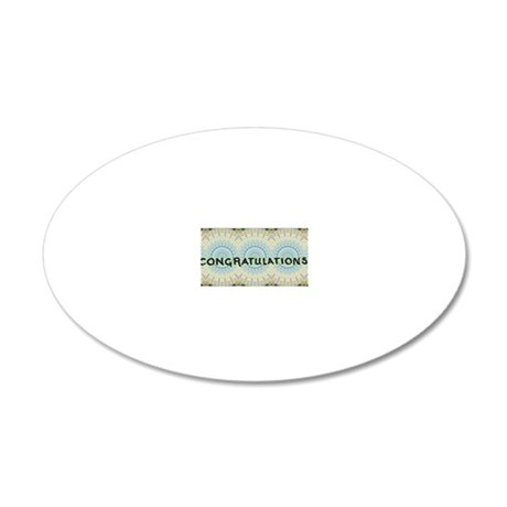 CongratsTtbm1 20x12 Oval Wall Decal