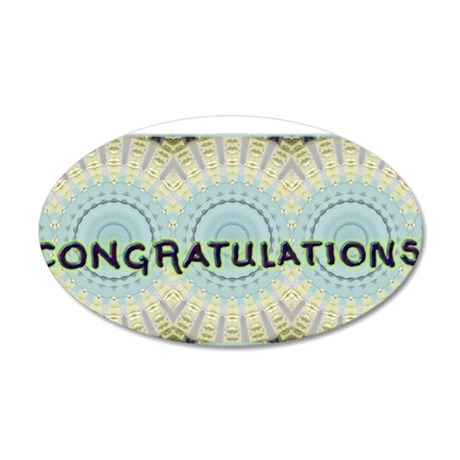 CongratsTtbm1 35x21 Oval Wall Decal