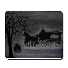 Horse Drawn Hearse Mousepad