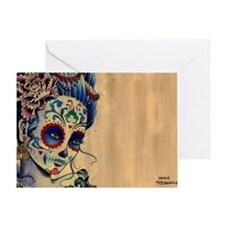 Marie de los Muertos Laptop Cover Greeting Card