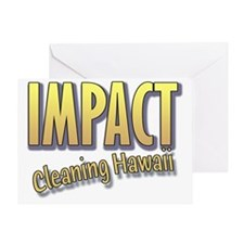 Impact Cleaning Hawaii Big Letters Greeting Card