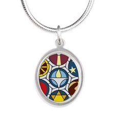 The Unitarian Universalist Ch Silver Oval Necklace