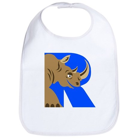 R is for Rinoceros Bib