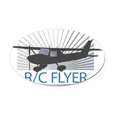 RC Flyer Hign Wing Airplane Oval Car Magnet