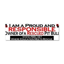 Cute Pit bull owner Car Magnet 10 x 3