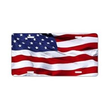 USA Flag Aluminum License Plate