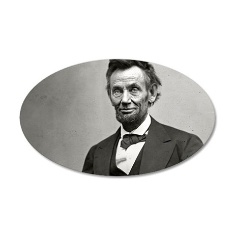 Abe Lincoln 35x21 Oval Wall Decal