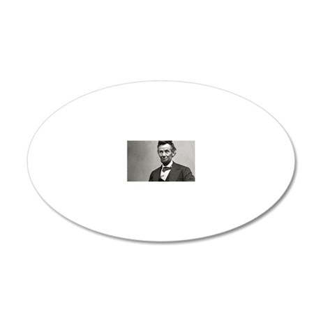 Abe Lincoln 20x12 Oval Wall Decal