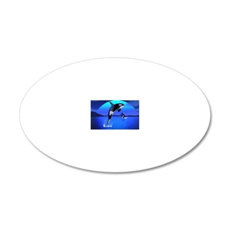 orca_laptop_skin 20x12 Oval Wall Decal
