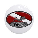 Diver Plaque Ornament (Round)